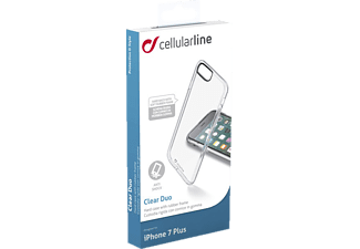 CELLULAR LINE Clear Duo, Apple, Backcover, iPhone 7 Plus, Kunststoff, Transparent