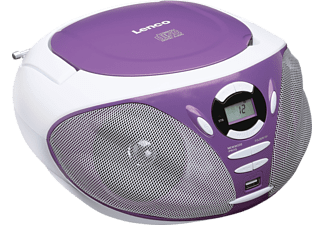 LENCO SCD-300 Tragbares CD-Radio (Lila)