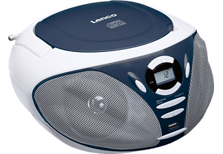 LENCO SCD-300, Tragbares FM Radio mit CD Player, Blau