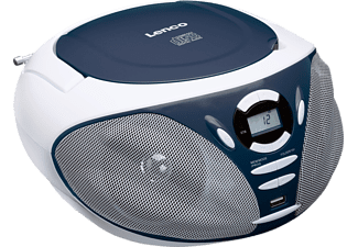 LENCO SCD-300 Tragbares CD-Radio (Blau)