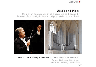 Beilschmidt/Clamor/Sächsische Bläserphilharmonie - Winds and Pipes-Music for Symphonic Wind Ensemb. - (CD)