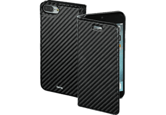 HAMA Guard Case - Carbon, Bookcover, iPhone 7 Plus, High-Tech-Polyurethan, Schwarz