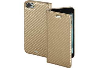 HAMA Guard Case - Carbon, Bookcover, iPhone 7, High-Tech-Polyurethan, Gold