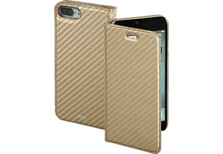HAMA Guard Case - Carbon, Bookcover, iPhone 7 Plus, High-Tech-Polyurethan (PU), Gold