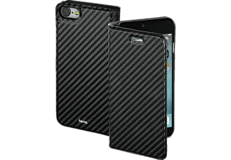 HAMA Guard Case - Carbon, Bookcover, iPhone 7, High-Tech-Polyurethan (PU), Schwarz