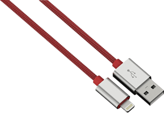 HAMA Color Line Lade-Sync-Kabel, passend für Apple Universal, Rot
