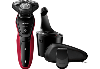 PHILIPS S5140/26  Series 5000 Rasierer Rot/Silber (Rotierend)