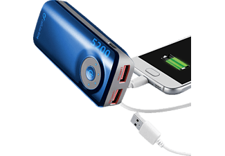 CELLULAR LINE 37123, Powerbank, 5200 mAh, Blau