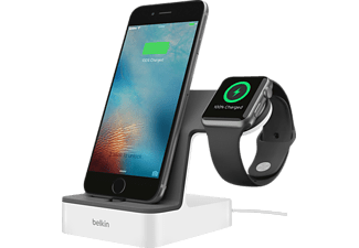 BELKIN Apple Watch + iPhone Duo Ladestation, Weiß Ladestation