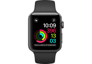 APPLE Smart Watch 1.42mm Space Grey Aluminium Case + Siyah Sport Band