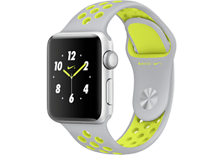 APPLE Watch Series 2 Nike+ 38mm aluminium / zilver-volt sportbandje