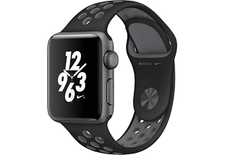 APPLE Watch Series 2 Nike+ 38mm spacegrijs aluminium / zwart-grijs sportbandje