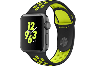 APPLE Watch Series 2 Nike+ 38mm spacegrijs aluminium / zwart-volt sportbandje