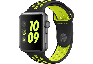 APPLE Watch Series 2 Nike+ 42mm spacegrijs aluminium / zwart-volt sportbandje