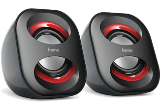 "HAMA ""Sonic Mobil 183"" Notebook Speaker Black/Red - (173131)"