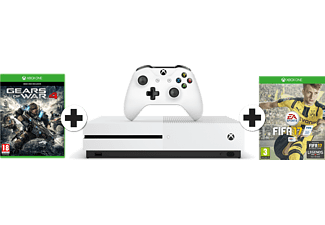 MICROSOFT Xbox One S 500 GB + FIFA 17 + Gears of War 4