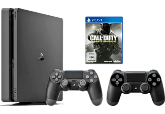 SONY PlayStation 4 Konsole Slim 1TB + Call of Duty: Infinite Warfare + 2. DUALSHOCK 4 Wireless-Controller