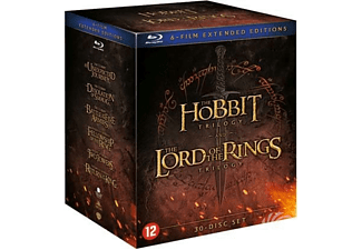 Hobbit & Lord Of The Rings Trilogy (Extended) | Blu-ray