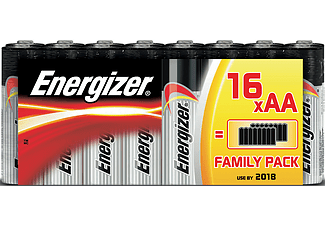 ENERGIZER Battery AA Alkaline Power 16-pack
