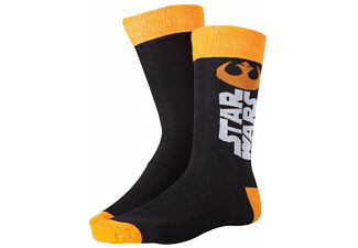 Star Wars Socken -39/42- Resistance Logo Schwarz/Orange