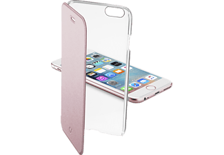 37224 Bookcover Apple iPhone 6, iPhone 6s Kunststoff Transparent/Rosa