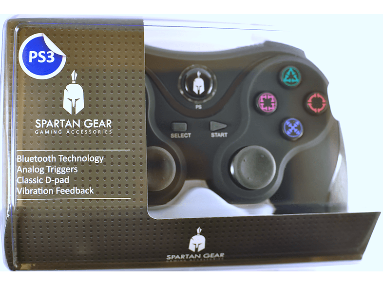 ENARXIS. Spartan Gear Wireless Bluetooth Sixaxis Controller Black gaming απογείωσε την gaming εμπειρία αξεσουάρ ps3