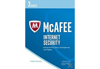 McAfee 2017 Internet Security - 3 Geräte (Code in a Box)