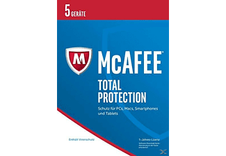 McAfee 2017 Total Protection - 5 Geräte (Code in a Box)