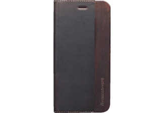 DBRAMANTE Risskov Folio Black Wood  Apple iPhone 6 Echtleder Schwarz