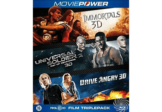 Action collection 3 (2016), (Blu-Ray) IMMORTALS 3D-UNIVERSAL SOLDIER 3D-DRIVE ANGRY 3D. BLURAY
