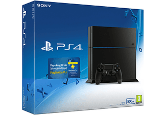SONY PS4 500GB + 3μηνη Συνδρομή PlayStation Plus