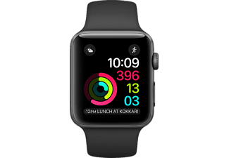 APPLE Watch 2. Seri MP0D2TU/A 38mm Uzay Grisi Alüminyum Kasa ve Siyah Spor Kordon