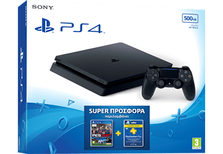 SONY PS4 Slim 500GB + PES17 + Συνδρομή PS Plus 3 μηνών