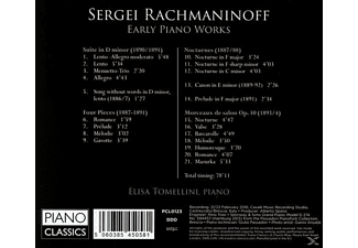 Elisa Tomellini - Rachmaninoff:Early Piano Works - (CD)