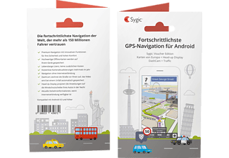 SYGIC Voucher Edition Europa + Traffic, Android Navigation (Produkt-Code), passend für Navigationssystem