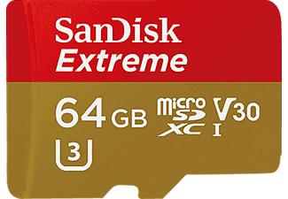SANDISK Extreme Micro SDHC 64 GB Rescue Pro Deluxe 90 MB/s V3