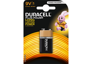 DURACELL Plus Power 9 Volt Batterie Alkaline 1 Stück