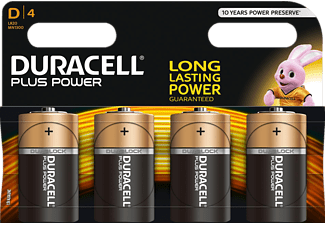 DURACELL Plus Power D Batterie Alkaline 4 Stück