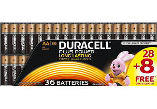 DURACELL Plus Power AA Mignon Batterie, 36 Stück