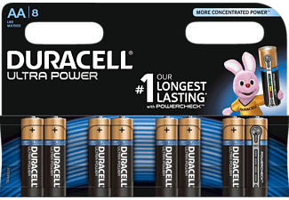 DURACELL Ultra Power AA Mignon Batterie, 8 Stück