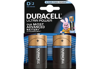 DURACELL Ultra Power D Batterie Alkaline 2 Stück