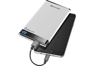CELLULAR LINE Free Power Manta, Powerbank, 6000 mAh, Weiß