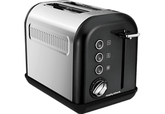 MORPHY RICHARDS 222013 Accents, Toaster, 940 Watt, Schwarz/Chrom