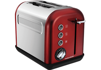 MORPHY RICHARDS 222011 Accents, Toaster, 940 Watt, Rot/Chrom