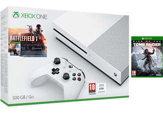 MICROSOFT Xbox One S (inkl Battlefield 1, Tomb Raider) - 500 GB