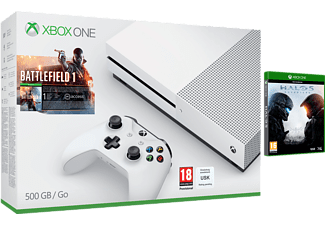 MICROSOFT Xbox One S (inkl Battlefield 1, Halo 5) - 500 GB