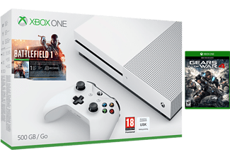 MICROSOFT Xbox One S (inkl. Battlefield 1, Gears of War 4) - 500 GB