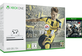 MICROSOFT Xbox One S (inkl FIFA 17, Gears of War 4) - 500 GB