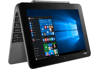 ASUS T101HA-GR004T, Convertible mit 10.1 Zoll, 64 GB Speicher, 2 GB RAM, Atom™ x5 Prozessor, Windows® 10 Home (64 Bit), Glacier Gray