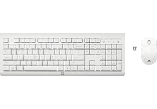 HP C2710 Combo Wireless Keyboard, Maus + Tastatur, Weiß